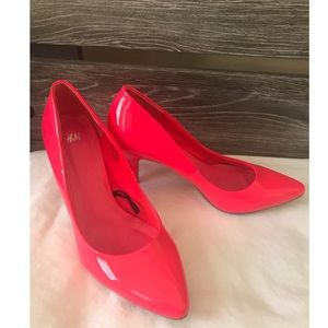 H&M Hot Pink Heels Pumps Size 9